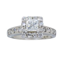 14KT White Gold 0.72ctw Diamond Ring