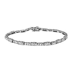 14KT White Gold 3.10ctw Diamond Bracelet