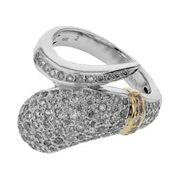 14KT Two Tone Gold 1.04ctw Diamond Ring