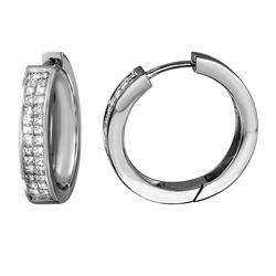 14KT White Gold 1.50ctw Diamond Earrings