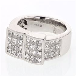 14KT White Gold 2.91ctw Diamond Ring