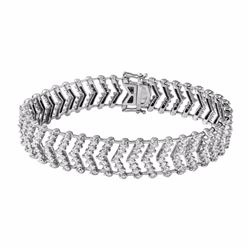 18KT White Gold 7.60ctw Diamond Bracelet