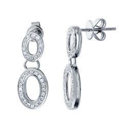 14KT White Gold 0.52ctw Diamond Earrings