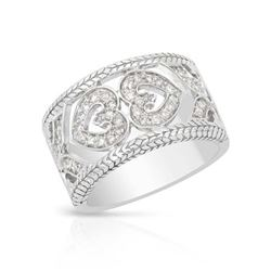 14KT White Gold 0.38ctw Diamond Ring