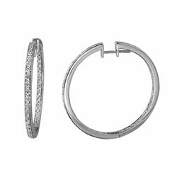 14KT White Gold 1.77ctw Diamond Earrings