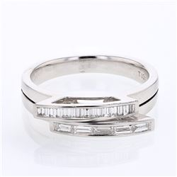 18KT White Gold 0.39ctw Diamond Wedding Band