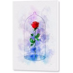 Enchanted Rose Print on Canvas