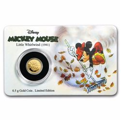 2017 $2.50 Mickey Through the Ages The little Whirlwind Gold Coin