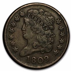 1809 Liberty Half Cent Coin