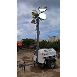 2012 ALLMAND NIGHT LIGHT 3657PRO212 LIGHT TOWER, 4000W, 7.5 KW GENERATOR W/KUBOTO MOTOR 5666 HRS