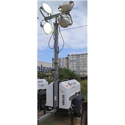 2012 ALLMAND NIGHT LIGHT 3657PRO212 LIGHT TOWER, 4000W, 7.5 KW GENERATOR W/KUBOTO MOTOR 3544 HRS