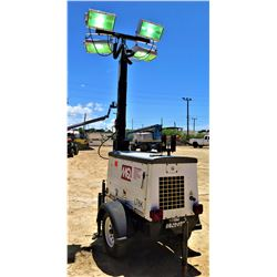 2014 MUTIQUIP LT6K PORTABLE LIGHT TOWER 4000W, 905 HOURS