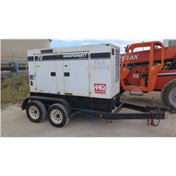 2011 MQ POWER MODEL DCA70USI2C DIESEL GENERATOR, 56KW, 9324 HOURS