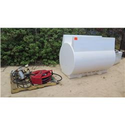 2016 SWP 500-GALLON DIESEL FUEL TANK w/ PUMP & HOSE REEL