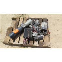 CONTENTS OF PALLET: MISC. ELECTRIC MOTORS