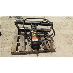 SKIDSTEER MINI EXCAVATOR AUGER ATTACHMENT