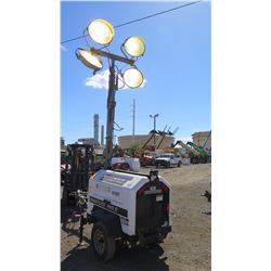 2012 ALLMAND NIGHT LIGHT 3657PRO212 LIGHT TOWER, 4000W, 7.5 KW GENERATOR W/KUBOTO MOTOR - 983 HRS