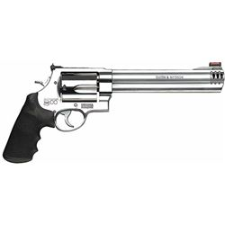 "Smith & Wesson 163501 500 Standard Stainless Single/Double 500 Smith & Wesson 8.4"" 5 Black Synthetic"