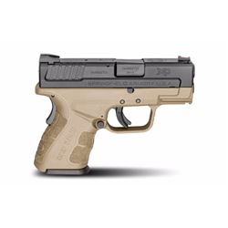 "Springfield Armory XDG9801FDEHC XD Mod.2 Sub-Compact Double 9mm 3"" 13+1/16+1 Flat Dark Earth Polymer"