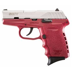 "SCCY Industries CPX2TTCR CPX-2 Double 9mm 3.1"" 10+1 Crimson Polymer Grip/Frame Grip Stainless Steel"