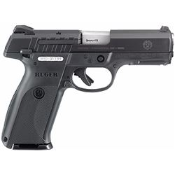 "Ruger 3340 SR9E Standard Double 9mm 4.14"" 17+1 Black Polymer Grip Blued"