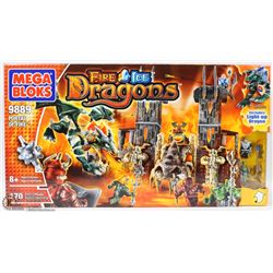MEGA BLOKS 170PC FIRE & ICE DRAGONS SET