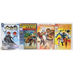 LOT OF 4 NEW IN PLASTIC #1'S  COMIC BOOKS INCL