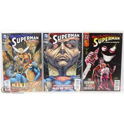LOT OF 3 SUPERMAN NEW IN PLASTIC COLLECTOR