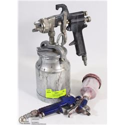 10) PAIR OF SPRAY GUNS (ONE FINISHING ONE LARGER)