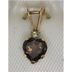 10KT YELLOW GOLD HEART SHAPED PENDANT