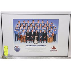 OILERS POSTER 1984 STANLEY CUP