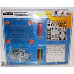 NEW FISKARS EASY STAMP PRESS KIT