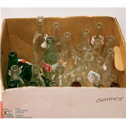 LARGE BOX OF PEPSI BOTTLES AND COKE BOTTLES