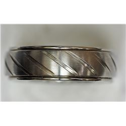 STAINLESS STEEL STRIPE BAND MEN'S RING