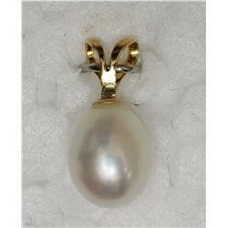 14KT YELLOW FRESHWATER PEARL PENDANT