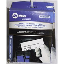 4 PACKS OF MILLER FRONT LENS COVERS