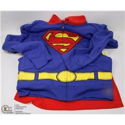 NEW SUPERMAN ZIPPERED HOODY WITH