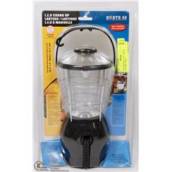 NEW NORTH 49 L.E.D. CRANK UP LANTERN - SELF