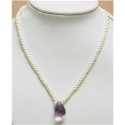 MAGNETIC CLASP FRESHWATER PEARL NECKLACE