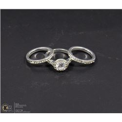 INFINITE ROMANCE 3PC CZ ENGAGEMENT SET
