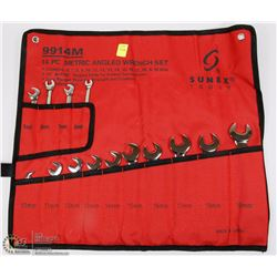 SUNEX 14PC METRIC ANGLED WRENCH SET