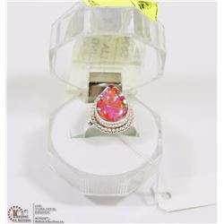 #41- AUSTRALIA TRIPLE OPAL GEMSTONE RING