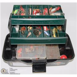 FLAMIBEAU FISHING BOX FULL OF LURES