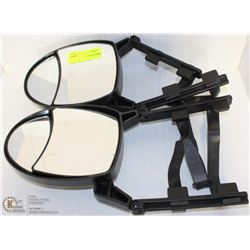 PAIR OF WRAP AROUND MIRROR EXTENSIONS, ADJUSTABLE,