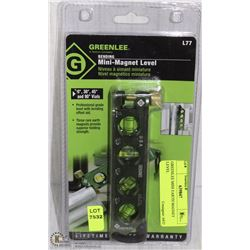 GREENLEE MINI EARTH MAGNET LEVEL