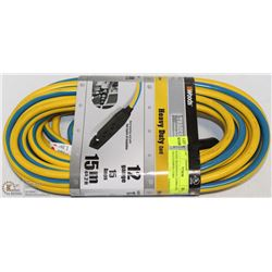 WOODS HEAVY DUTY EXTENSION CORD 12 GAUGE, 15A