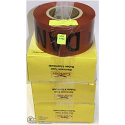 LOT OF 4 CONDOR RED-ZONING/BARRICADE TAPE