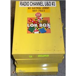 LOT OF 4 SAFETY LOCK BOXES