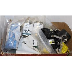BOX OF ASSORTED CAM LEVER COUPLINGS