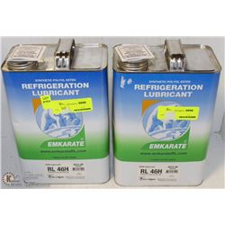 LOT OF TWO 1 GAL JUGS OF REFRIGERATION LUBRICANT